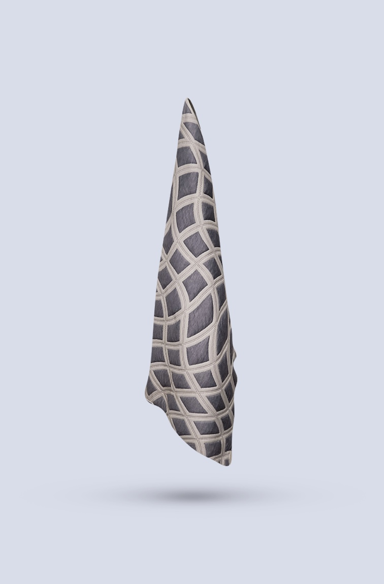 Mattress cover with abstract diamond pattern